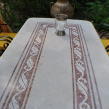 Garten marmortische steintische steinb nke blickpunkt for Marmortisch garten