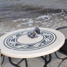 Garten marmortische steintische steinb nke blickpunkt for Marmortisch rund