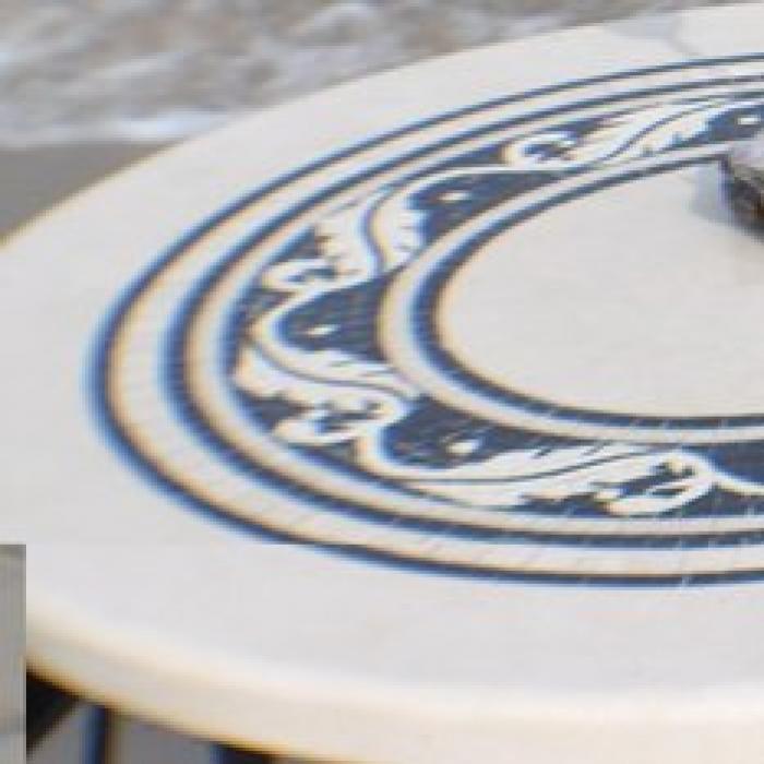Marmortisch oval 140 85 cm for Marmortisch schwarz