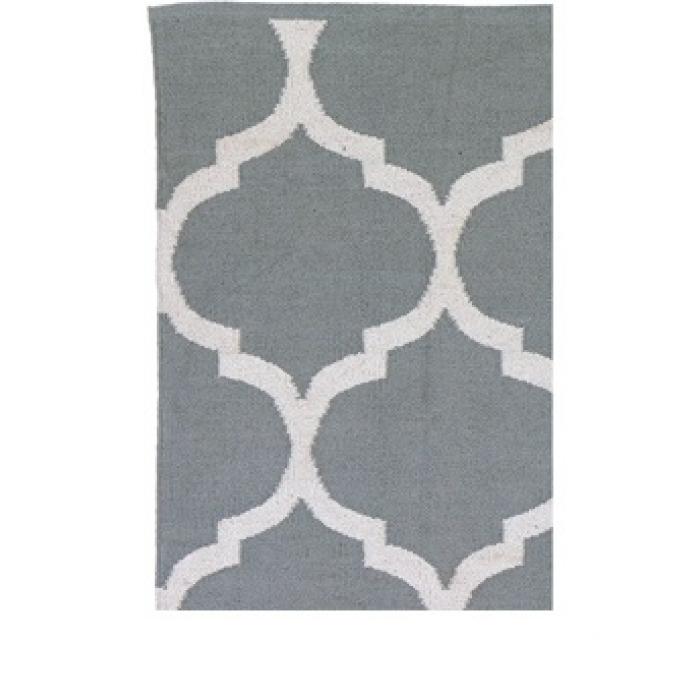 poly teppich casablanca grau weiss 140 x 200 cm. Black Bedroom Furniture Sets. Home Design Ideas